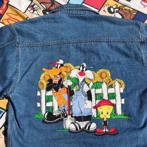 7885869b9c Jackets   Blazers - Vintage Looney Tunes Denim Jacket